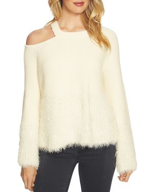 1.state Textured Cutout Sweater