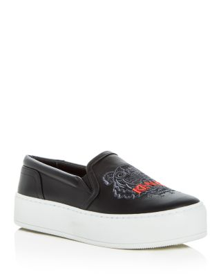 Kenzo Women's Tiger Embroidered Leather
