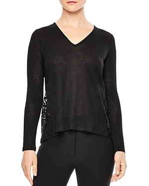 Sandro Filipa Lace-Back Top