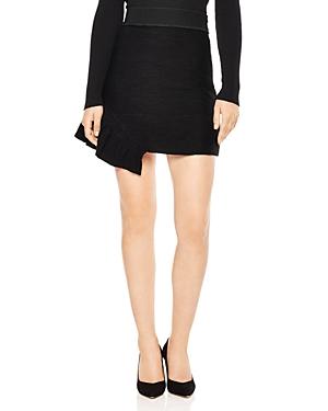 Sandro Aoda Asymmetric Ruffled Mini Skirt