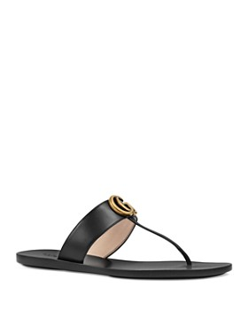 b3ba7b64aee0c0 Gucci - Women s Marmont Leather Thong Sandals ...
