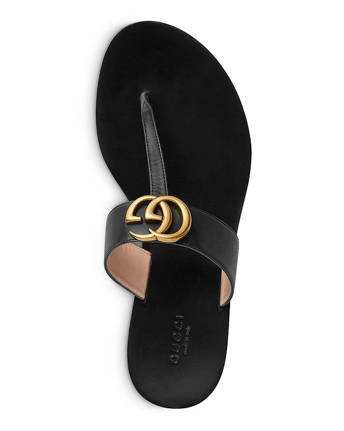 877b17239039d2 Gucci - Women s Marmont Leather Thong Sandals