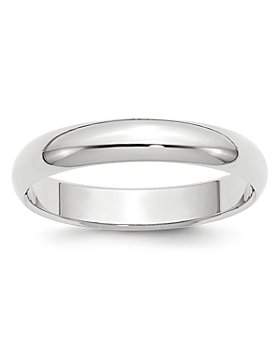 Bloomingdale's - Men's 4mm Half Round Band in 14K White Gold - 100% Exclusive