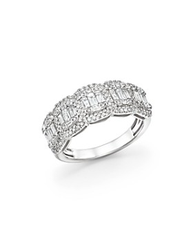 Bloomingdale's - Diamond Round & Baguette Band in 14K White Gold, 1.0 ct. t.w. - 100% Exclusive