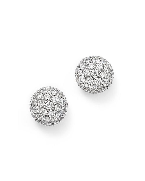 Bloomingdale S Diamond Ball Stud Earrings In 14k White Gold 1 10 Ct T W