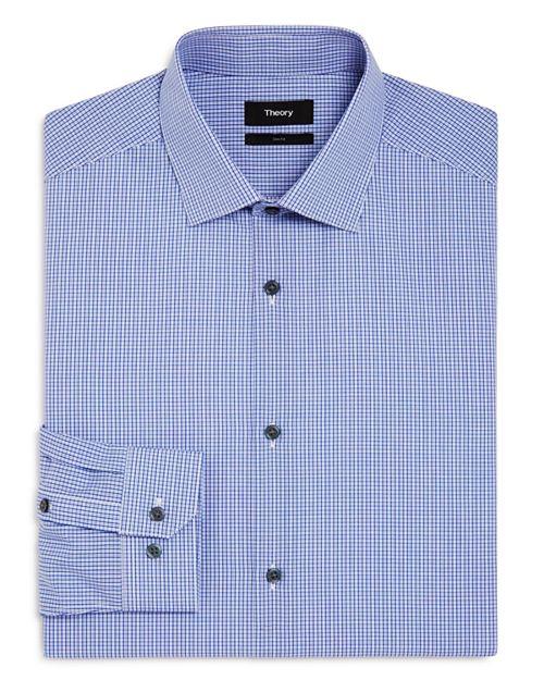 Theory - Micro Check Slim Fit Dress Shirt