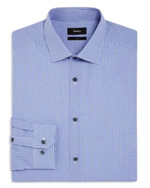 Theory Micro Check Slim Fit Dress Shirt