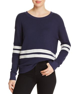 STRIPE-APPLIQUE SWEATSHIRT