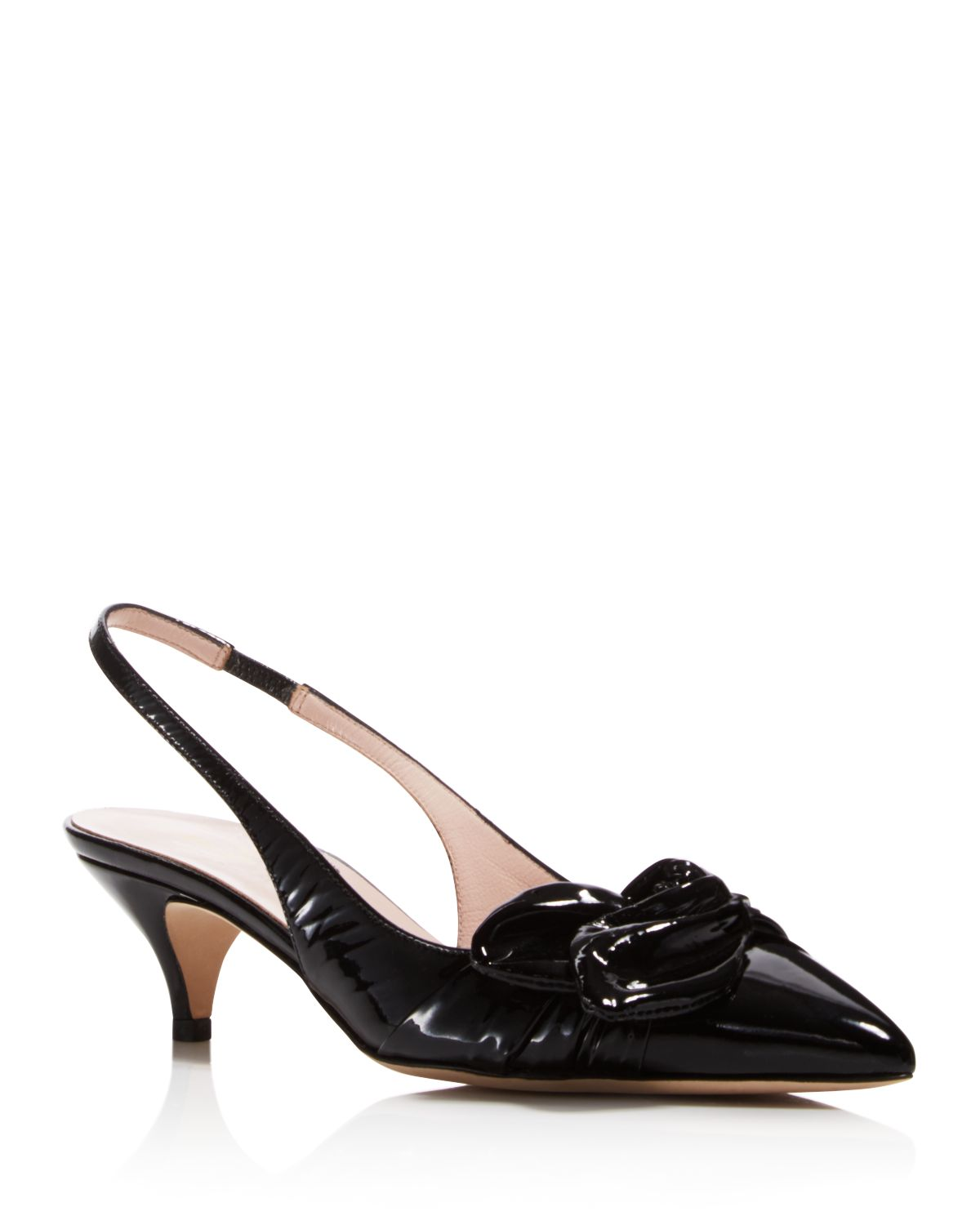 Kate Spade New York Patent Leather Bow-Accented Pumps