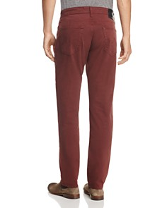 AG - The Graduate Slim Straight Fit Pants in Deep Mahogany