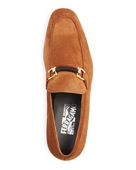 Salvatore Ferragamo - Men's Cross Gancini Braided Loafers