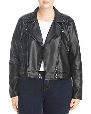 Lyssé Plus - Jones Faux Leather Moto Jacket
