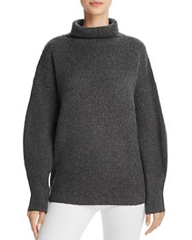 FRENCH CONNECTION - Urban Flossy Ribbed Knit Sweater