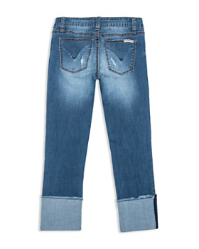 Hudson - Girls' Cropped & Cuffed Distressed Jeans - Little Kid