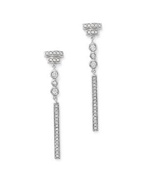 Bloomingdale's Diamond Linear Drop Earrings in 14K White Gold, 0.33 ct. t.w. - 100% Exclusive