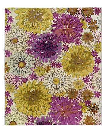 Tufenkian Artisan Carpets - Bouquet Spring Floral Collection Area Rug, 10' x 14'