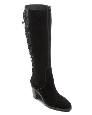 Bernardo Women's Nubuck Leather Tall Lace Up Boots