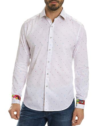 Robert Graham - Rainbow Stitch Dot Skull Long Sleeve Button-Down Shirt