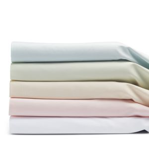 Coyuchi Organic Cotton Sateen Fitted Sheets, Crib
