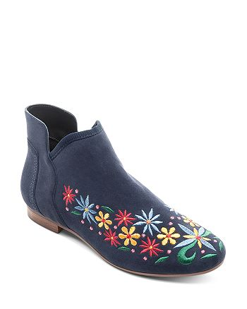 Bernardo - Women's Embroidered Suede Booties