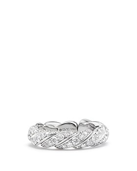 David Yurman - Paveflex Band Ring with Diamonds in 18K White Gold