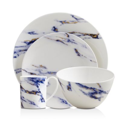 Marble Canapé Plates, Set of 4