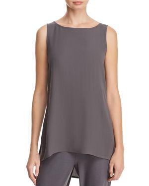 Eileen Fisher Petites Longline Silk Shell