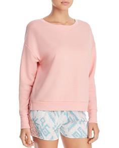 Honeydew Brushed French Terry Sweatshirt & Dream Keeper Sleep Shorts - Bloomingdale's_0
