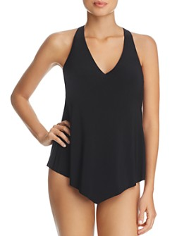 Magicsuit - Solid D Cup Taylor Tankini Top & Solid Jersey Shirred Bikini Bottom