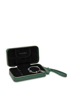 PANDORA - Sterling Silver & Cubic Zirconia Dazzling Snowflake Bracelet Gift Set