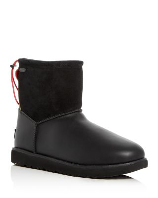 Men'S Classic Toggle Waterproof Leather & Suede Boots, Black