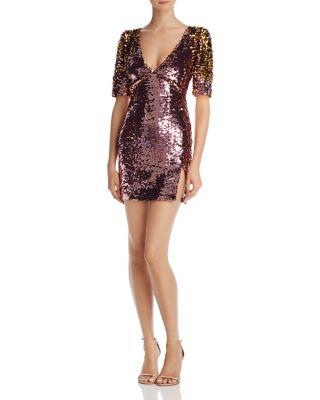 $For Love & Lemons Sequin Mini Dress - Bloomingdale's