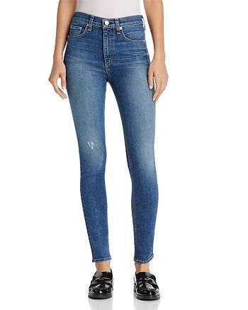 rag & bone/JEAN - High-Rise Skinny Jeans in El