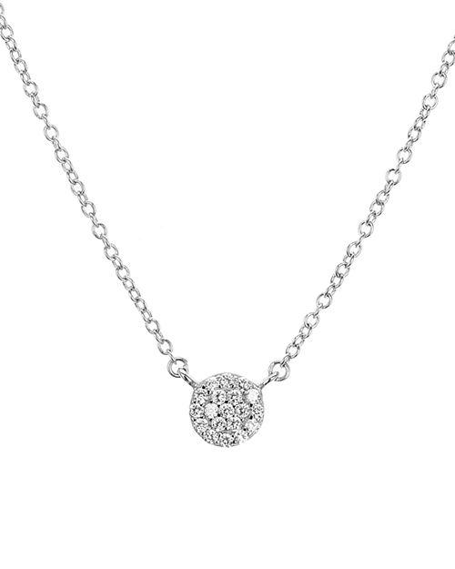 "AQUA - Sterling Silver Circle Pendant Necklace, 16"" - 100% Exclusive"