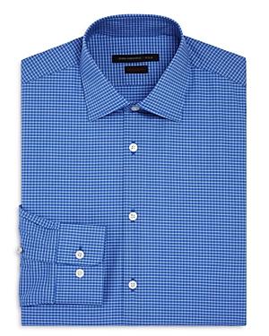 John Varvatos Star Usa Mini Check Regular Fit Stretch Dress Shirt