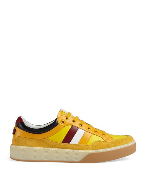 Gucci - Men's Leather Web Sneakers