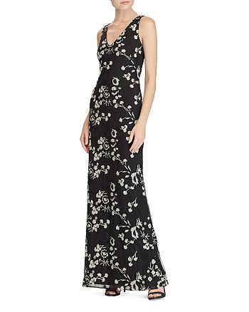 Ralph Lauren - Floral Embroidered Mesh Gown