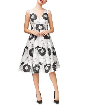 $Betsey Johnson Floral Jacquard Dress - Bloomingdale's