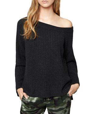 Sanctuary Aurelia One-Shoulder Rib-Knit Sweater
