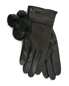 UGG® Brita Shearling Pom-Pom Tech Gloves - Bloomingdale's_0