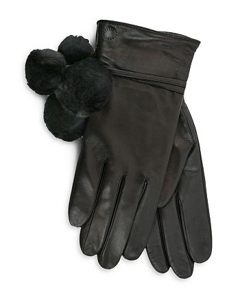 UGG® - Brita Shearling Pom-Pom Tech Gloves