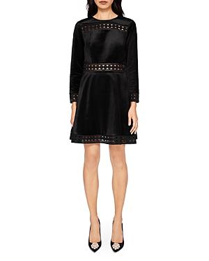 Ted Baker Lullita Geo Lace & Velvet Dress