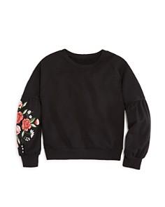 AQUA Girls' Floral Balloon-Sleeve Sweatshirt, Big Kid - 100% Exclusive - Bloomingdale's_0