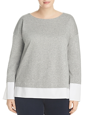 Lafayette 148 New York Plus Gabriel Layered Look Sweater