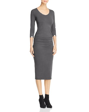 $Michael Stars Ruched Midi Dress - Bloomingdale's