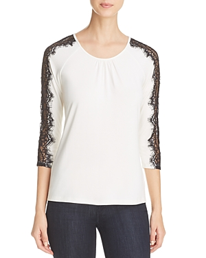 Daniel Rainn Lace Sleeve Top