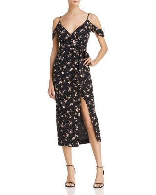 Floral Mock Wrap Dress   100 Percents Exclusive  by Bardot