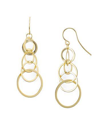 AQUA - Sterling Silver Linked Circle Drop Earrings - 100% Exclusive