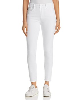 PAIGE - Hoxton Ankle Skinny Jeans in Crisp White