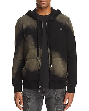 True Religion Raw Edge Zip Hooded Sweatshirt